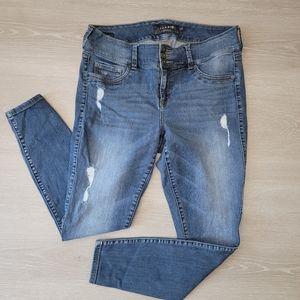 Torrid Skinny Denim Distressed Jeggings Size 14R